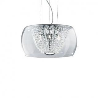 Pendelleuchte Metall chrom, Kristallglas transparent, höhenverstellbar
