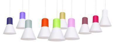 Hängeleuchte mit Lampenschirm, moderne Hängelampe in sieben verschiedenen Farben, 48 cm - Vorschau 2