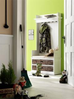 Garderobe, Garderobenschrank weiss im Landhausstil, massiv Holz - Vorschau 2