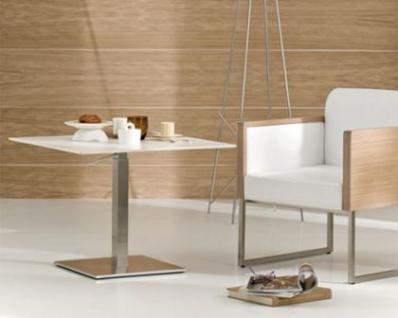 Design Sessel gepolstert in zwei Farben, Sitzhöhe 46 cm - Vorschau 4