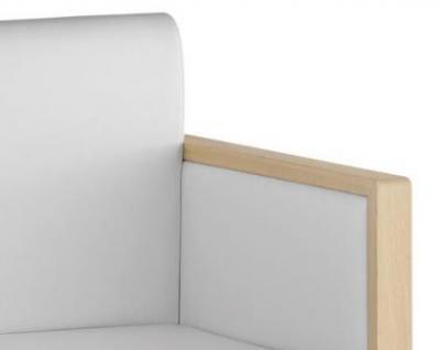 Design Sessel gepolstert in zwei Farben, Sitzhöhe 46 cm - Vorschau 2