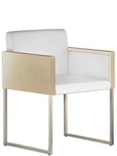 Design Sessel gepolstert in zwei Farben, Sitzhöhe 46 cm - Vorschau 1