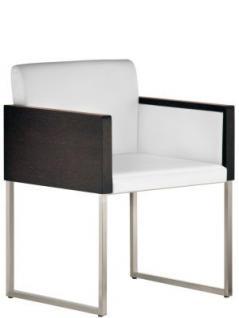 Design Sessel gepolstert in zwei Farben, Sitzhöhe 46 cm