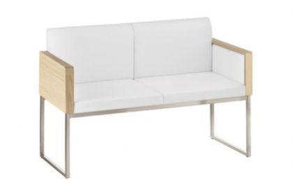 Design Bank gepolstert in zwei Farben, Breite 180 cm