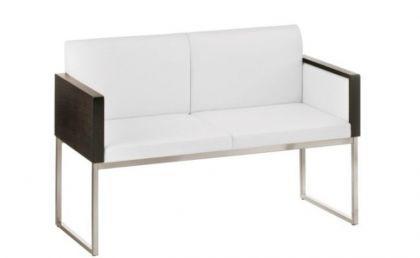 Design Sessel gepolstert in zwei Farben, Sitzhöhe 46 cm - Vorschau 5