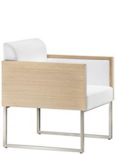 Design Sessel gepolstert in zwei Farben, Sitzhöhe 39 cm