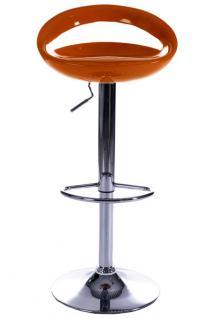Design Barhocker in orange - Vorschau 2