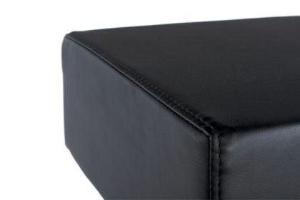 Design Barhocker in schwarz, Edelstahl Gestell - Vorschau 4