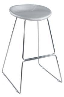 Design Barhocker in silber modern - Vorschau 5