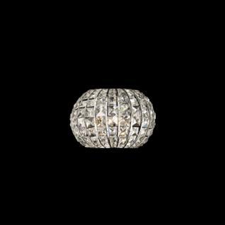 Wandleuchte Kristall transparent, Metall chrom