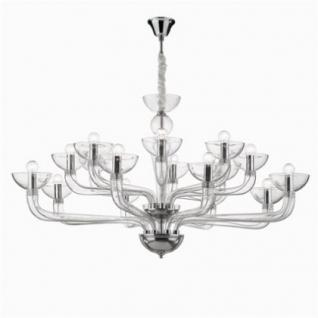Kronleuchter Metall chrom Glas transparent modern