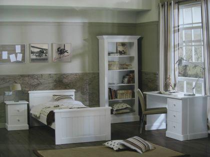 Weißes Einzelbett Hampton im Lanhausstil in drei Farben - Vorschau 2