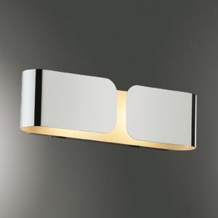 Wandleuchte Metall weiß/ chrom - Vorschau 2