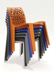 Outdoor Design-Stuhl, Farbe blau - Vorschau 2