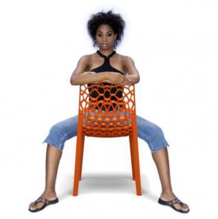 Outdoor Design-Stuhl in sieben Farben, ausgezeichnet mit Red Dot Award 2011 - Vorschau 3