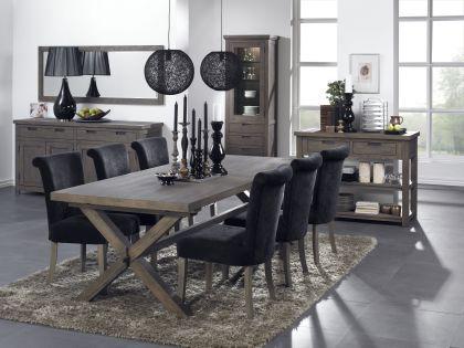 Esstisch im Landhausstil aus Eichenholz massiv in 240 cm Länge - Vorschau 1