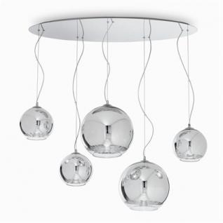 Pendel-/ Deckenleuchte Metall chrom, Glas transparent - Vorschau