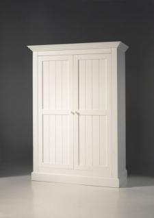 Kleiderschrank Hampton im Landhausstil in weiß - Vorschau 1