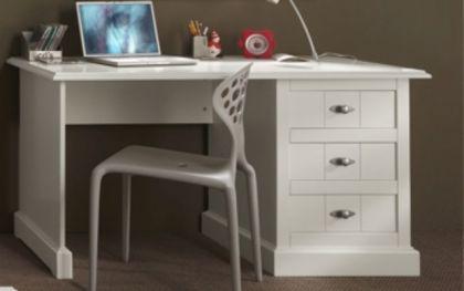 Schreibtisch Hampton im Landhausstil in weiß - Vorschau