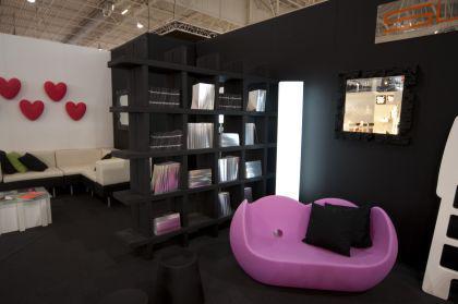 Designer Sessel in Schwarz/lila Blossy - Vorschau 4