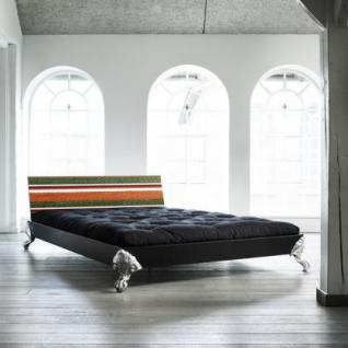 Bett für Jugendzimmer, Bett mit einem Design Kopfteil, Größe 148 x 208 cm - Vorschau 1