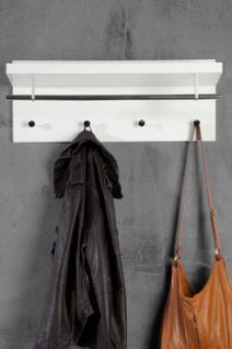 Wandgarderobe, Garderobe mit vier Haken und eine Stange ...