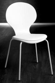 Stuhl gepolstert, Farbe weiß