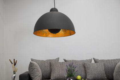 Pendelleuchte aus Metall, Hängeleuchte Farbe schwarz-gold, Durchmesser 53 cm - Vorschau 4