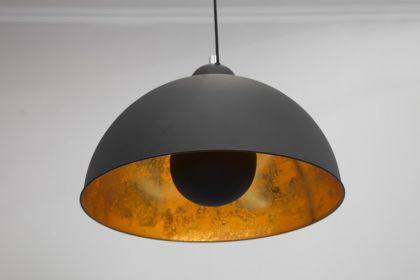 Pendelleuchte aus Metall, Hängeleuchte Farbe schwarz-gold, Durchmesser 53 cm - Vorschau 1