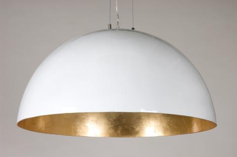 Moderne Pendelleuchte 90 cm Durchmesser, in drei Farben gold, silber und schwarz - Vorschau 2