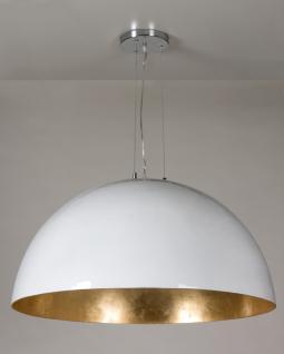 Moderne Pendelleuchte 90 cm Durchmesser, in drei Farben gold, silber und schwarz