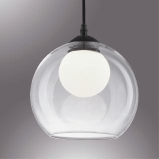 Pendelleuchte Metall chrom, Glas transparent modern