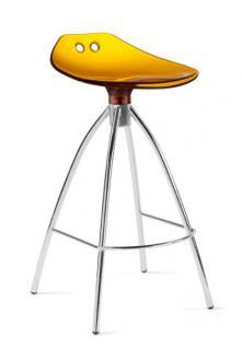 Design Bar-Tresenhocker, Stahl, Chrom, Rot - Vorschau 2