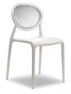 Design Stuhl Kunststoff Glasfaser leinen - Vorschau