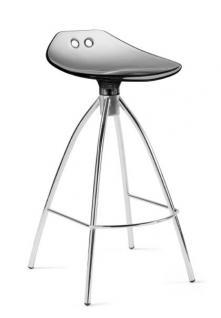 Design Bar-Tresenhocker, Stahl, Chrom, Rot - Vorschau 3