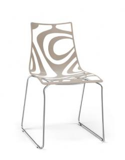 Design stuhl kunststoff chrom rot sitzh he 45 cm for Stuhl design schule
