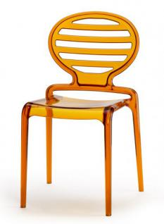 Design Stuhl, Kunststoff, Amber, Sitzhöhe 45 cm