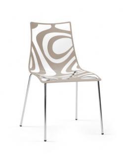 Design Stuhl, Kunststoff, Sand, Sitzhöhe 46 cm