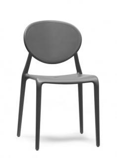Design Stuhl Kunststoff Glasfaser anthrazit - Vorschau