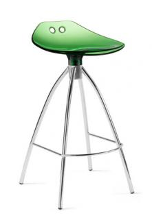 Design Bar-Tresenhocker, Stahl, Chrom, Rot - Vorschau 5