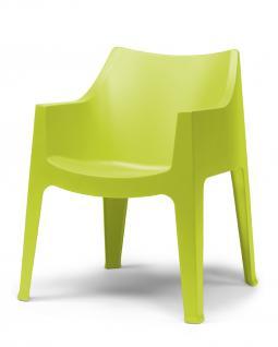 Design Stuhl Kunststoff grün draußen Sitzhöhe 45 cm