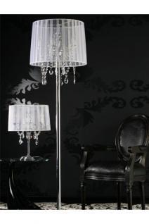 Stehleuchte im venezianischen Stil mit einem Organza Schirm
