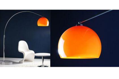 Stehleuchte im modern Stil Schirm orange 170 cm - Vorschau 2