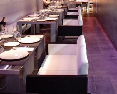Design Sessel gepolstert in zwei Farben, Sitzhöhe 46 cm - Vorschau 3