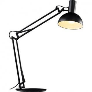 Schreibtischleuchte Metall schwarz verstellbar modern - Vorschau 1