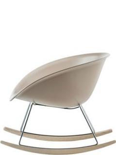 Schaukelstuhl, Design Stuhl-Sessel mit eine Sitzschale aus Kunststoff - Vorschau 2