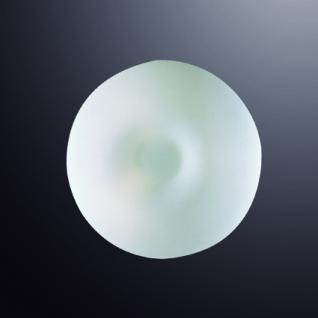 Wand-/ Deckenleuchte Glas weiß, Metall nickel, modern - Vorschau