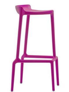 Barhocker lila und in vier weiteren Farben, stapelbar, Sitzhöhe 75 cm