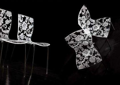 Design Barhocker mit Blumenmuster - Vorschau 2