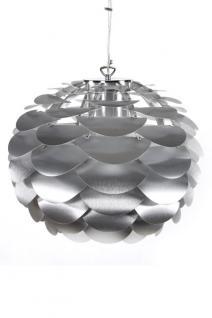 Pendelleuchte in aluminium, modern höhenverstellbar.